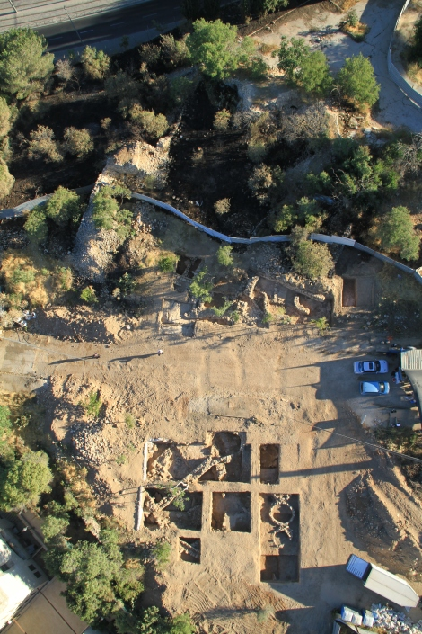 A picture of the excavation area. Photographic credit: Skyview Company, courtesy of the Israel Antiquities Authority.