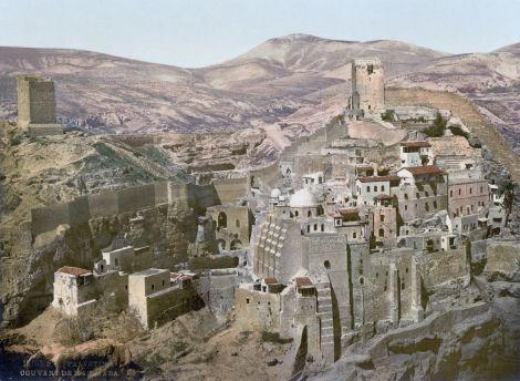 Mar Saba Monastery, circa 1900