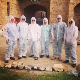 Geared up and ready for stone conservation at the Citadel in Old Acre
