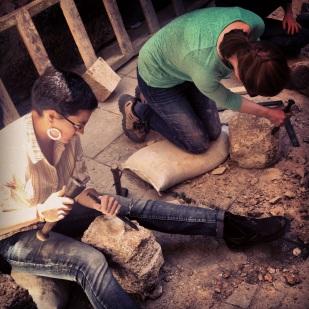 Stone masonry exercises.