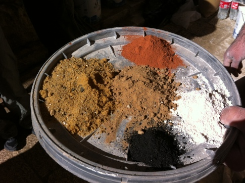 Natural aggregates for mortars and plasters