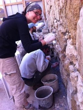 Applying prepared mortars to stone walls
